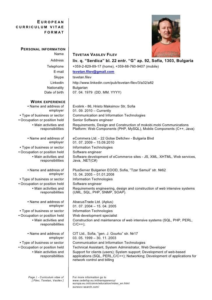 Euro cv format pertamini euro cv format yelopaper Choice Image