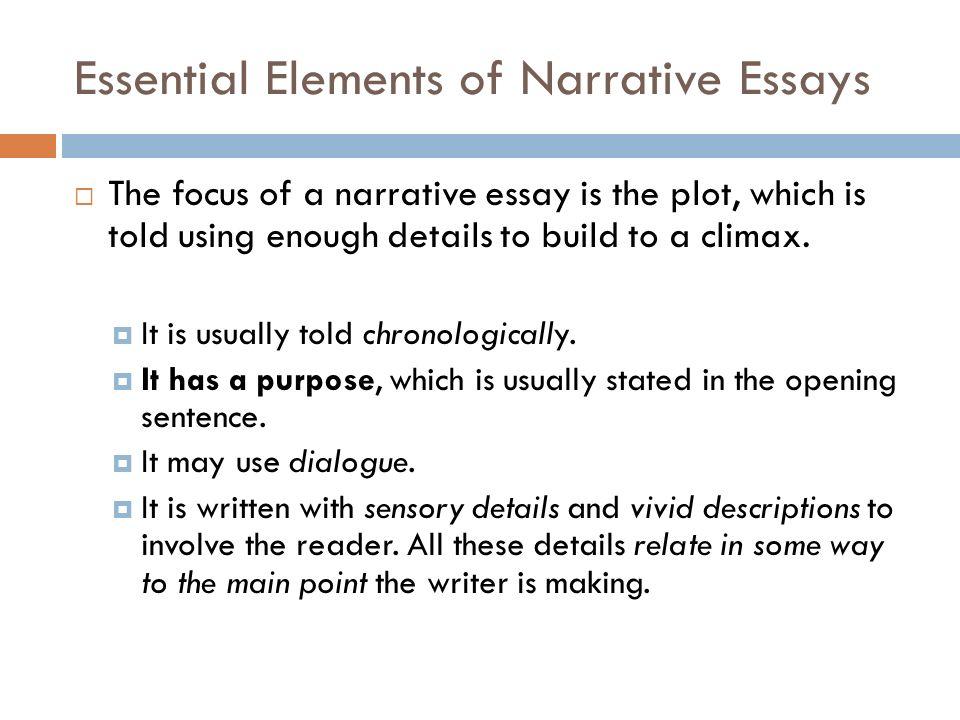 Descriptive narrative essays