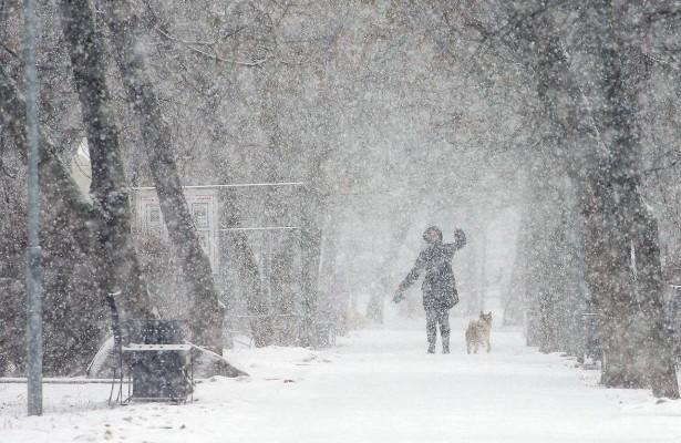 Москвичей предупредили омокром снеге впонедельник