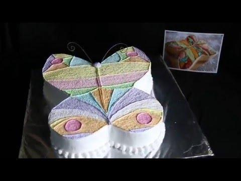 Торт бабочка на фото