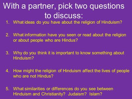Write my hinduism paper