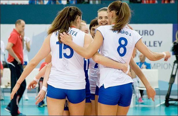 Чемпионат Европы поволейболу. Россия победила Турцию