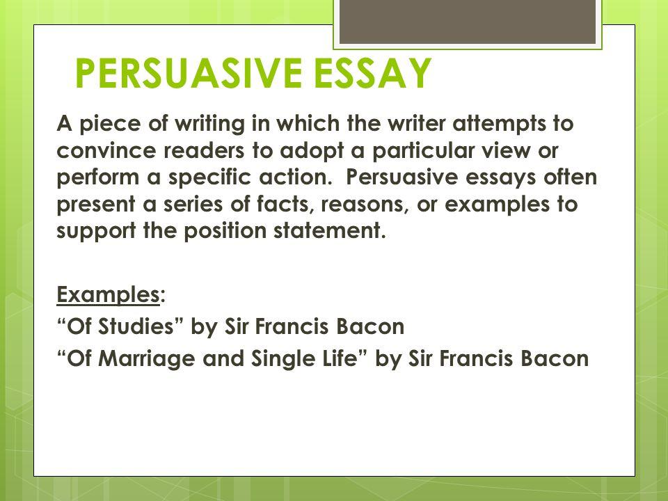 Buy persuasive essay examples