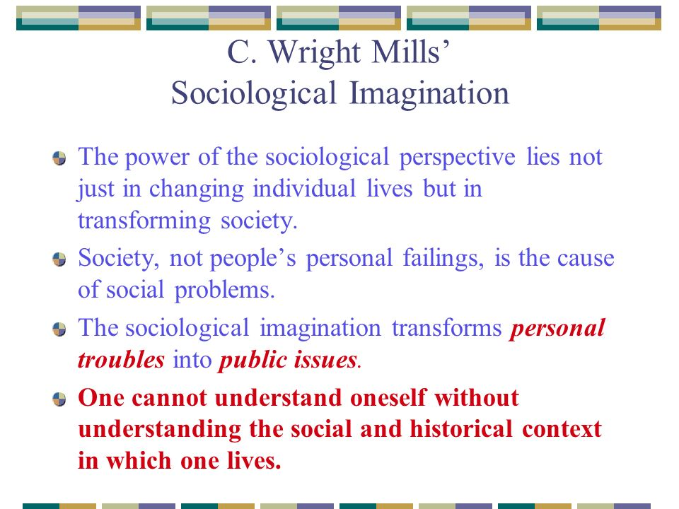 Sociological Imagination Essay - Bartleby