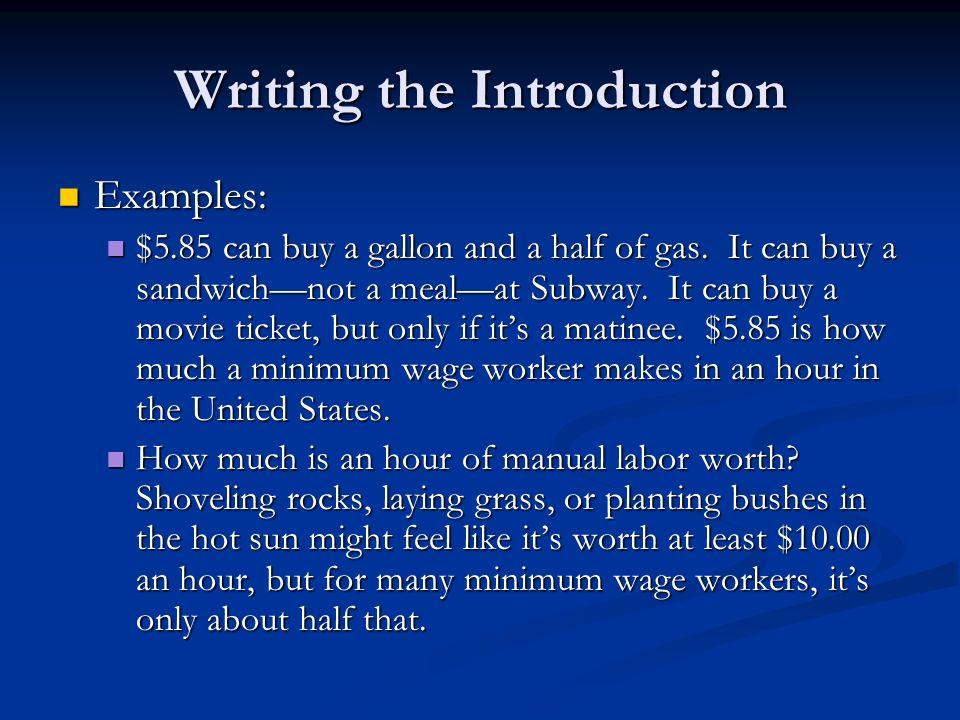 Write my minimum wage paper
