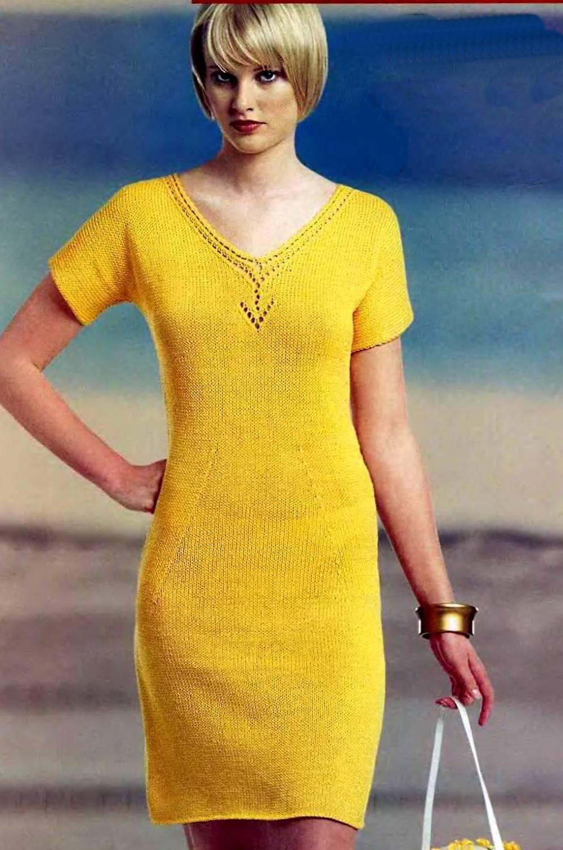 вязание крючком-платье каран