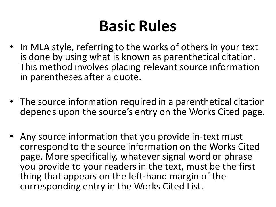 MLA Citation Examples - UMUC Library
