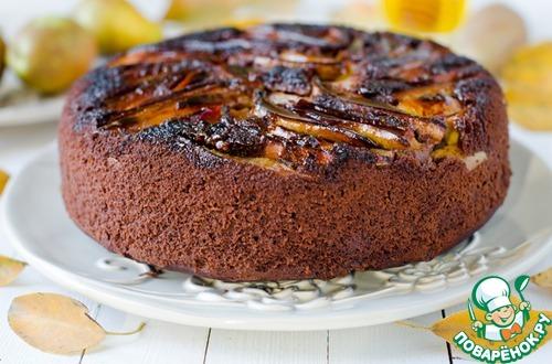 Пирог с грушей без рецепты с фото