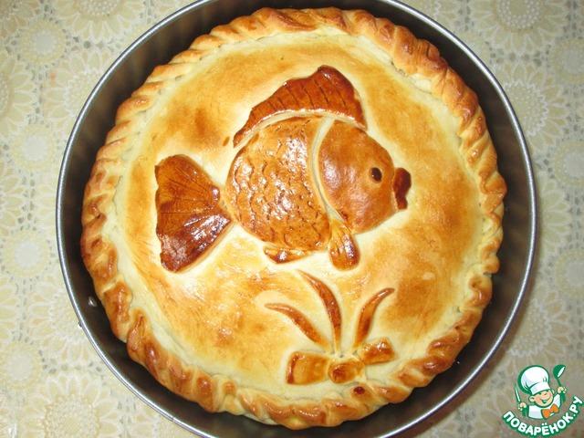пирог с рыбой рецепт с фото пошагово