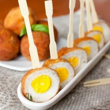Рецепт Перепелиные яйца по‑шотландски