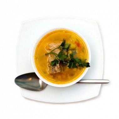 Рецепт Суп«Бозартма» избаранины слуком изеленью