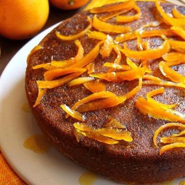 Рецепт Апельсиновый пирог соливковым маслом