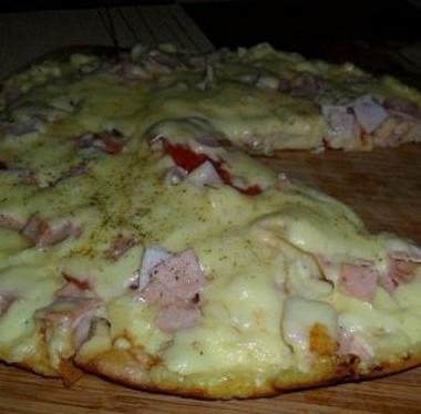 Рецепт Быстрая пицца насметанном тесте