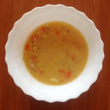 Рецепт Гороховый суп сбеконом исвиными ребрышками