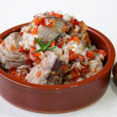 Рецепт Закуска измакрелевого тунца (скумбрии) вмаринаде