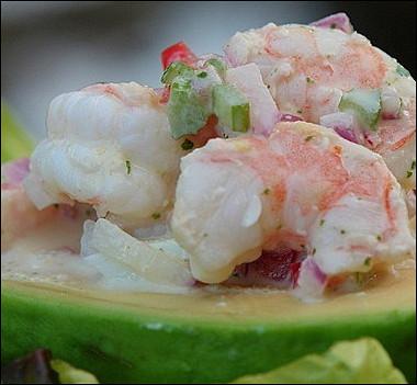 Рецепт Авокадо, фаршированные морепродуктами