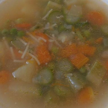 Рецепт Овощной весенний суп ссыром