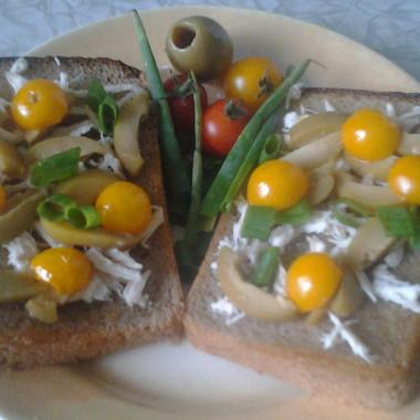 Рецепт Бутерброды скурицей иоливками