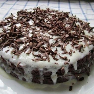 Рецепт Быстрый шоколадный торт сосметанным кремом