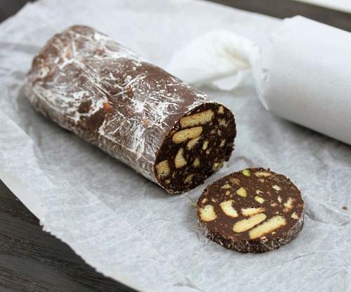 как приготовить шоколадную колбасу рецепты