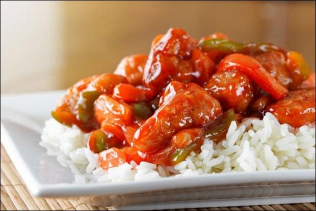 Рецепт курица в кисло сладком соусе