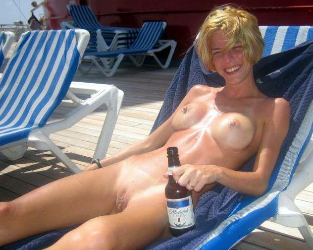 Nude in public hairy