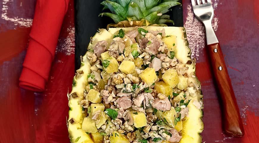 Салат ананас рецепт с фото