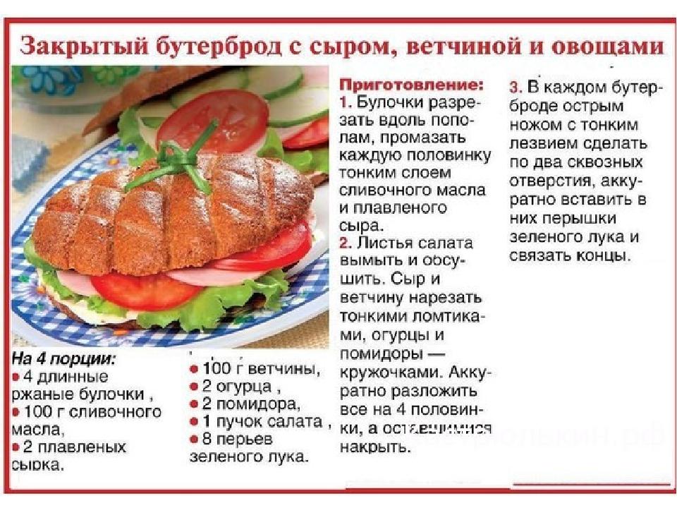 Рецепты бутербродов с картинками