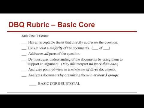 Write my dbq essay rubric