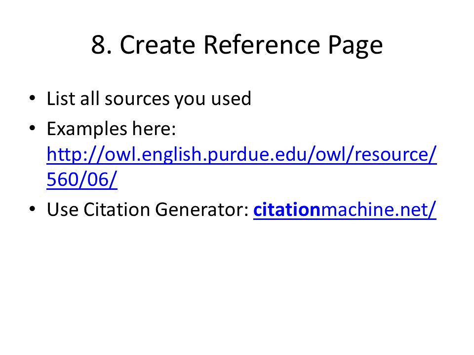Write my how to make a reference list for a research paper