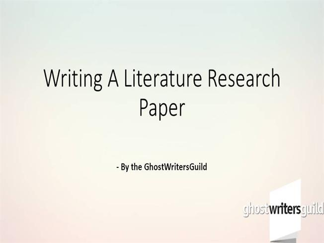 Writing a Review Paper - Trent University