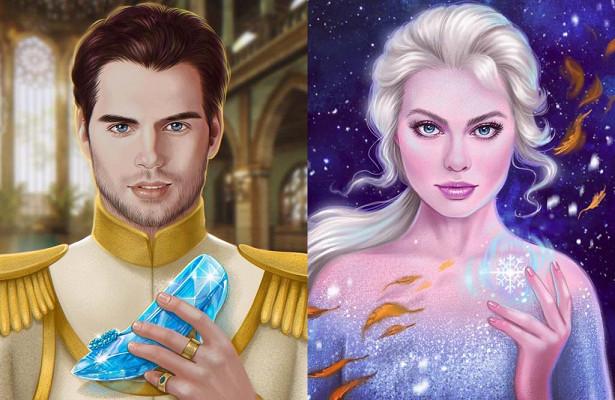 Популярных актёров нарисовали вролях героев Disney