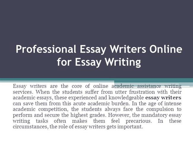 Essays writers