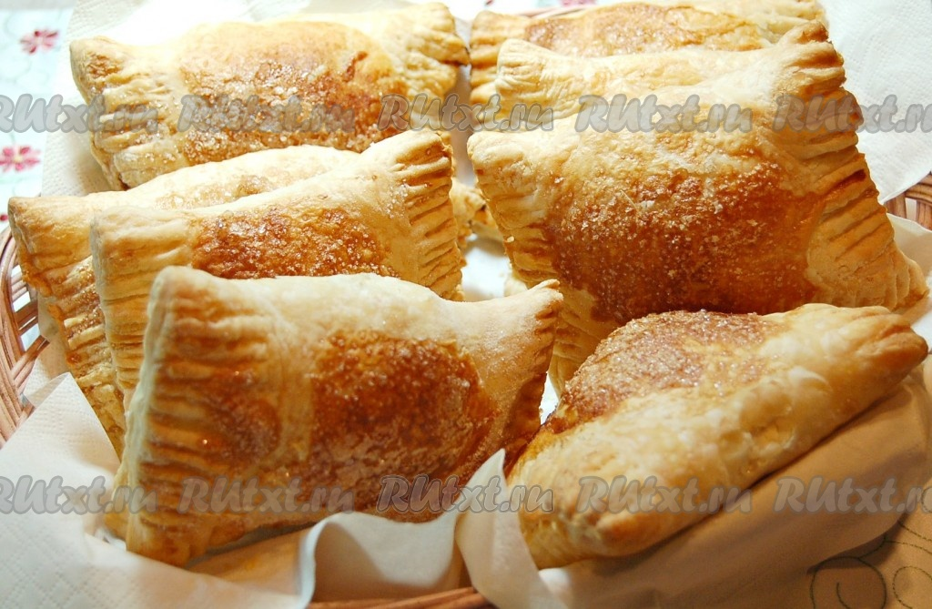 слоеные пирожки с повидлом рецепт с фото