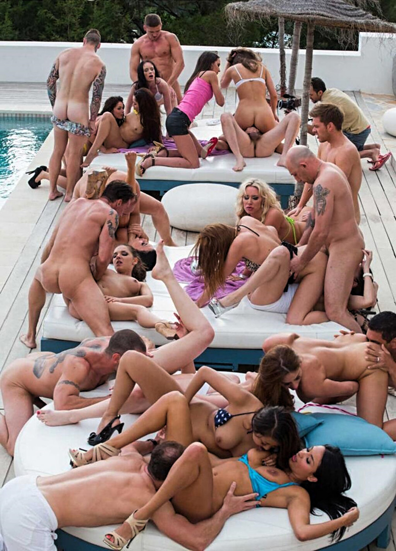 Nude wife pool party, tight blonde rides huge dick